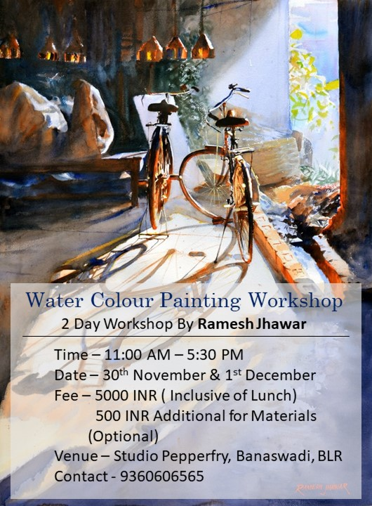 WATERCOLOR PAINTING WORKSHOP – banaswadi on 30th November and 1st December